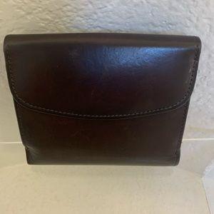Women Leather Brown Wallet